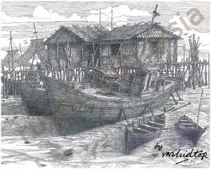 A Fishing Village in Tanjung Lumpur
