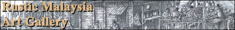 Rustic Malaysia Art Gallery - Rural scenes in pen and ink by Rashidtop.